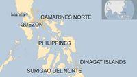 Lokasi penemuan paket kokain di pantai dan permukaan laut, berada di 4 provinsi di selatan Manila (BBC)