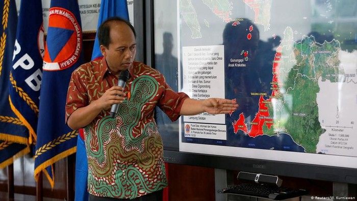 Kepala Pusat Data, Informasi dan Humas BNPB, (alm) Sutopo Purwo Nugroho (DW News)