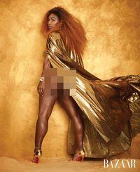 Mendobrak Standar, Serena Williams Pose Seksi Tanpa Edit di Harper's Bazaar
