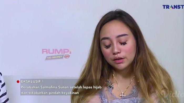 Salmafina Sunan menyebut dirinya lahir prematur. Foto: dok. Rumpi: No Secret