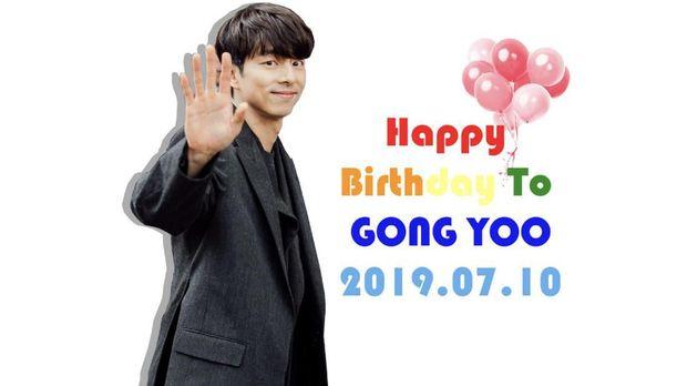 Ucapan ulang tahun untuk Gong Yoo dari sejumlah fan di laman penggemar aktor tersebut.