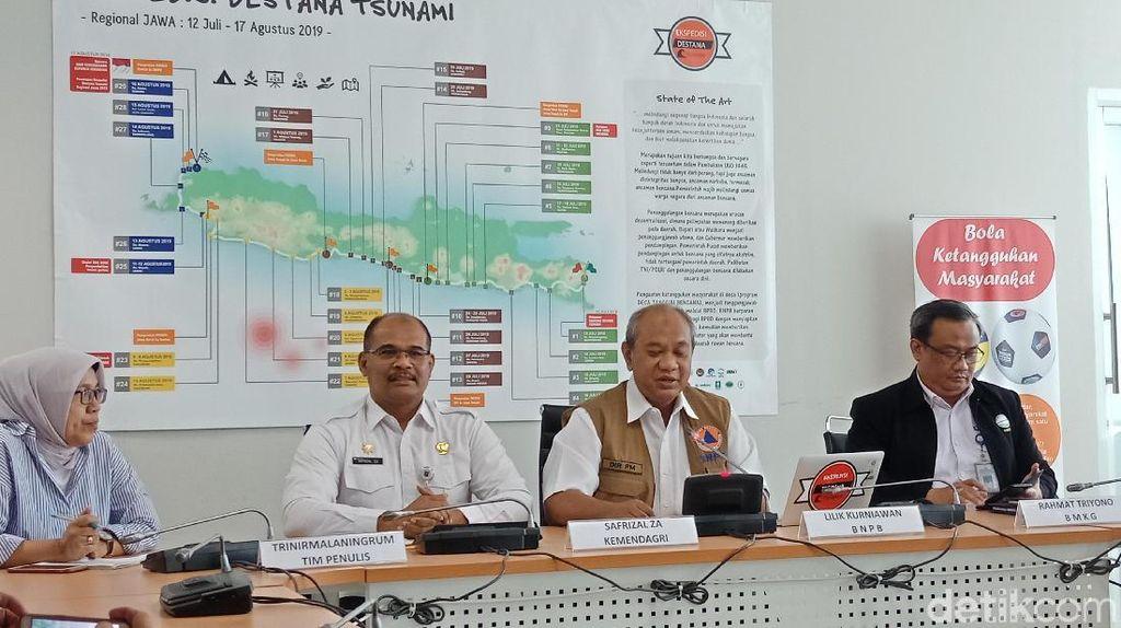 BNPB Gelar Ekspedisi ke 584 Desa Rawan Gempa dan Tsunami di Jawa