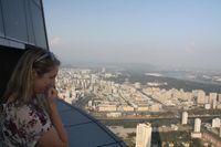 Panorama Pyongyang dari Hotel Ryugyong (AFP)