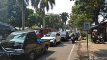 Imbas Cor Beton Proyek Tol Lingkar Bogor Ambrol, Lalin Macet