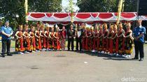 Gandrung Banyuwangi Ditampilkan dalam Puncak HUT Bhayangkara di Jatim