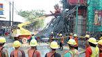 Penampakan Tiang Penyangga Tol Lingkar Bogor yang Ambruk