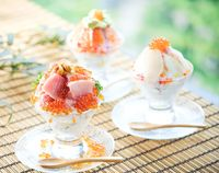 Bukan Es Krim, Parfait Ini Terbuat dari Nasi dan Aneka Seafood
