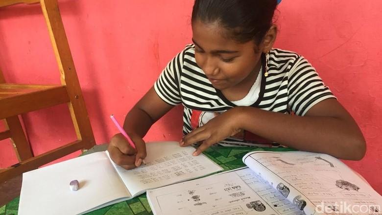 Anak Pengungsi Rohingya di Medan Tetap Sekolah Walau Tinggal di Penampungan