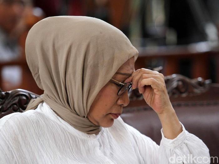 Ratna Sarumpaet saat menghadapi sidang vonis di PN Jaksel, Kamis (11/7/2019). (Rifkianto Nugroho/detikcom)