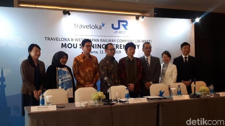 Jajaran Traveloka (Shinta Angriyana/detikcom)