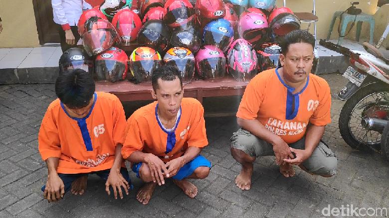 Komplotan Pencuri Helm di Kantor Bupati dan Mapolres Maros Sulsel Diciduk