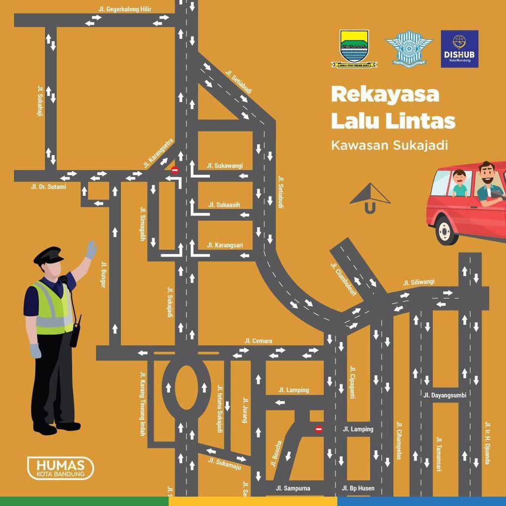 11 Rute Angkutan Berubah Imbas Rekayasa Sukajadi-Setiabudi Bandung