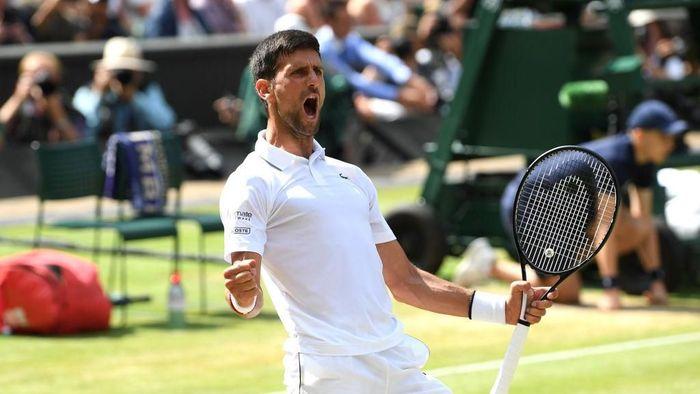 Novak Djokovic berhasil melaju ke final Wimbledon 2019 (Foto: Matthias Hangst/Getty Images)