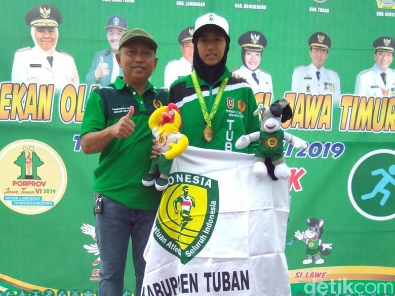 Atlet Remaja Asal Tuban Raih Emas Porprov 2019 di Cabang Lompat Tinggi