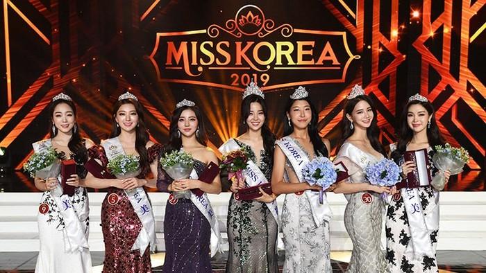 Tujuh besar finalis Miss Korea 2019. Foto: Dok. The Korea Times