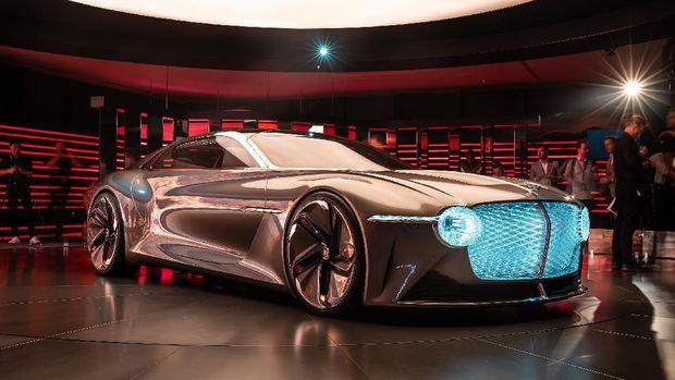 Ilustrasi ban pada mobil masa depan Bentley
