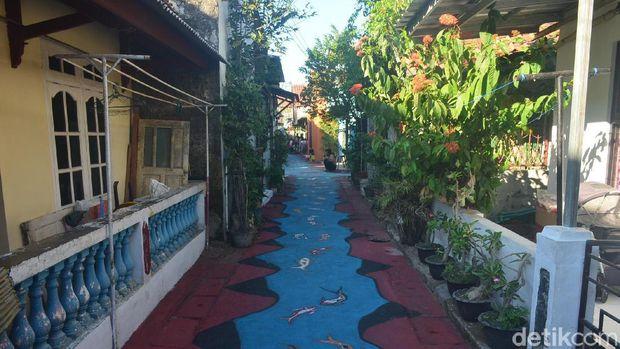 Keren, Warga Kampung Pulo Cirebon Sulap Gang dengan Lukisan 3D Laut