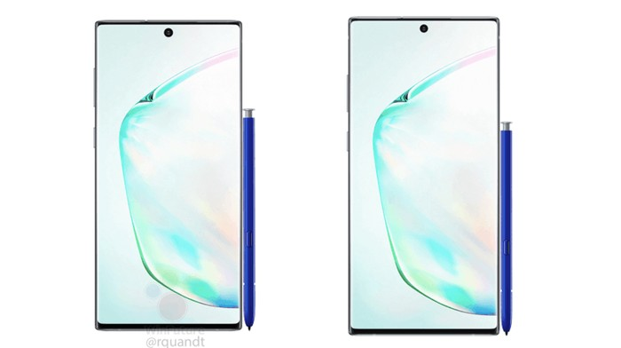 Samsung Galaxy Note 10 dan Galaxy Note 10+. Foto: Dok. winfuture.de