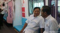 Akhirnya Jajal MRT, Prabowo: Terima Kasih Pak Jokowi