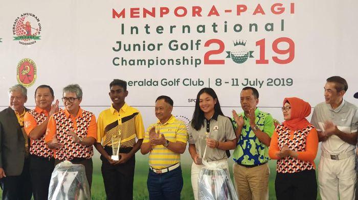 Menpora-PAGi International Junior Golf 2019 sudah selesai, ada dua pegolf Indonesia jadi juara (dok.Kemenpora)