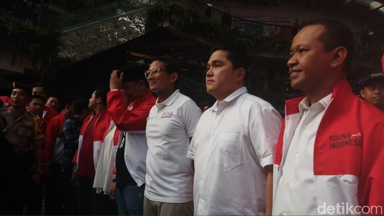 Usai Pertemuan Jokowi-Prabowo, Erick Thohir Bertemu Sandiaga di Acara Milenial