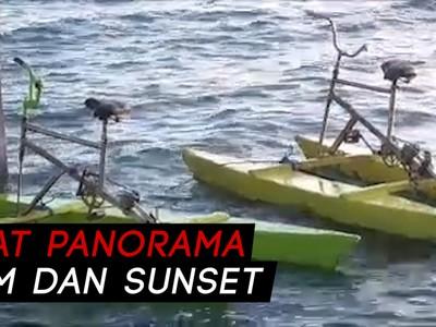 Sensasi Bermain Sepeda Laut di Polewali Mandar