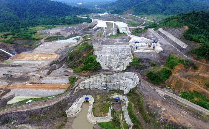Bendungan ini nantinya akan menjadi tempat menampungan khusus banjir sebesar 30,50 juta m3 dan dapat mereduksi debit banjir hingga 50 tahunan. Pool/PT Wijaya Karya.