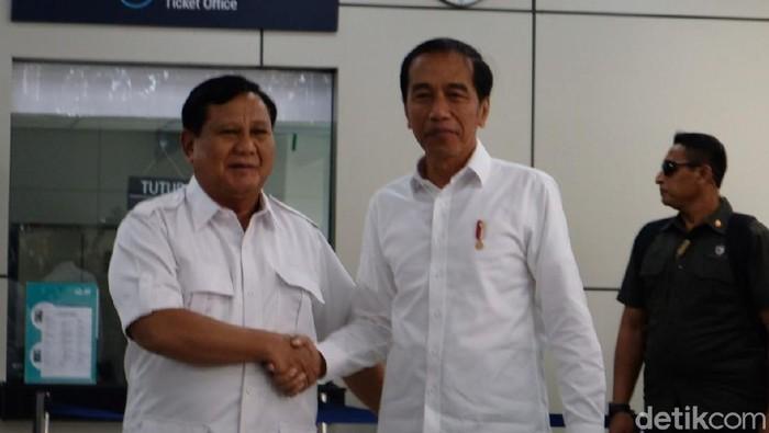 Prabowo dan Jokowi (Andhika/detikcom)
