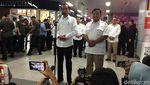 Suasana Pertemuan Jokowi dan Prabowo di Stasiun MRT Lebak Bulus