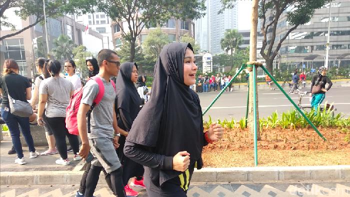 Soraya Larasati tengah menekuni olahraga lari (Foto: Widiya Wiyanti/detikHealth)