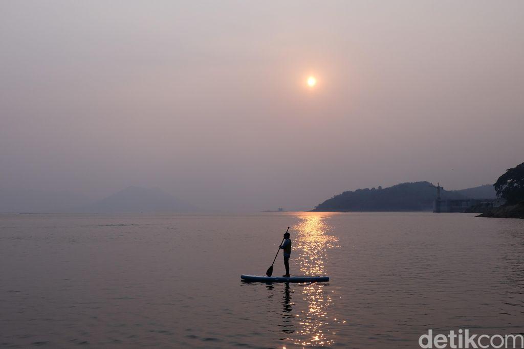 Spot baru main paddle board di Waduk Jatiluhur