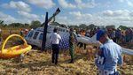 Potret Helikopter Jatuh Angkut 3 Orang Bule di Lombok