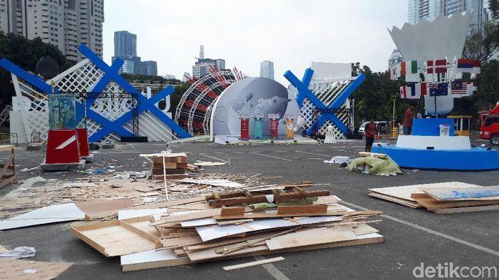 Istora terus bersolek menjelang Indonesia Open 2019. (Mercy Raya/detikSport)