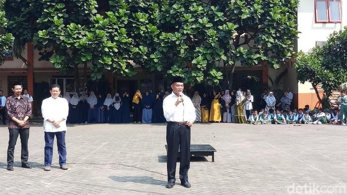 Mendikbud Muhadjir Effendy Kunjung Beberapa Sekolah di Tangerang (Foto: Farih/detikcom)