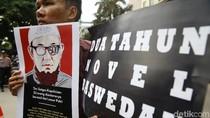 Aksi Teatrikal Terkait Kasus Novel Baswedan di Mabes Polri