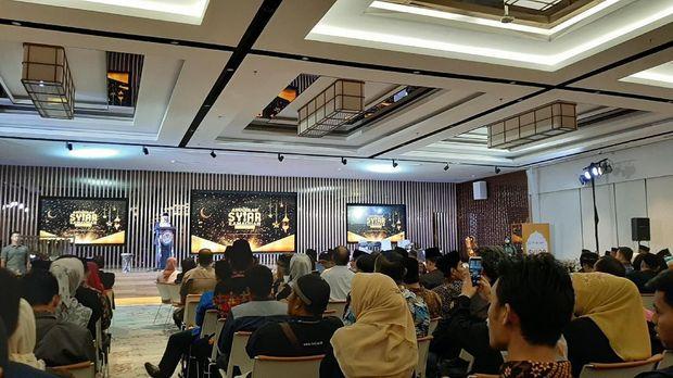 Ma'ruf Amin menghadiri acara Anugerah Syiar Ramadhan 2019.