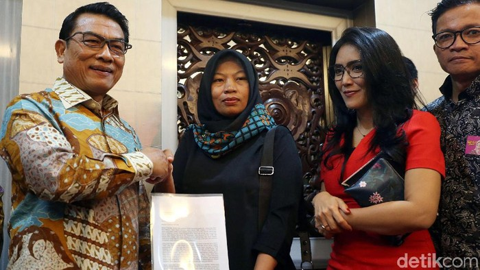 Moeldoko bertemu Baiq Nuril (Foto: Rengga Sancaya)