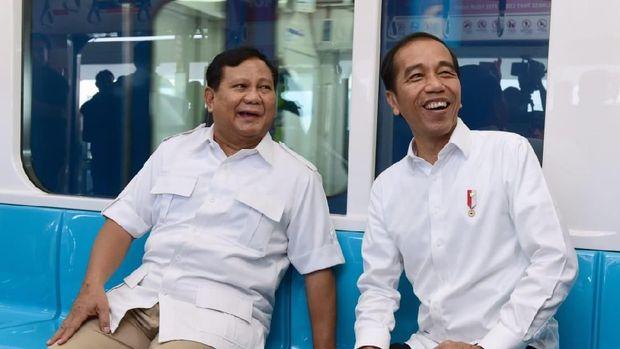 Pertemuan Jokowi dan Prabowo di MRT /