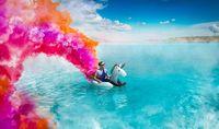 Danau berbahaya bernama Maldives yang jadi tempat berfoto.