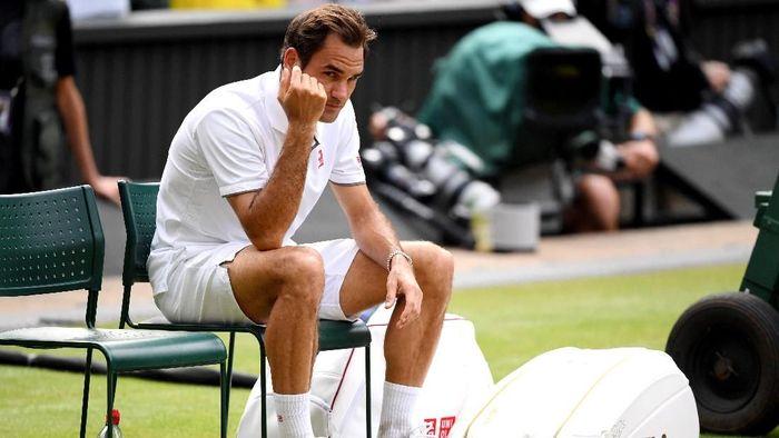 Roger Federer harus puas jadi runner-up di Wimbledon 2019 (Foto: Matthias Hangst/Getty Images)