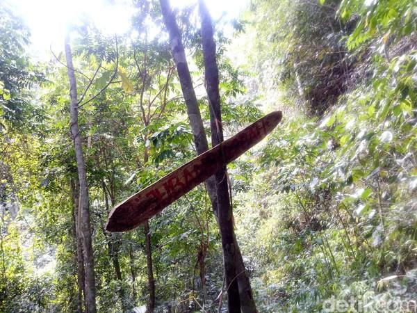 Justru karena hal tersebut membuat air terjun ini dijuluki sebagai spot wisata yang memacu adrenalin sekaligus bertualang di hutan rimba (Faruk Nickyrawi/detikcom)
