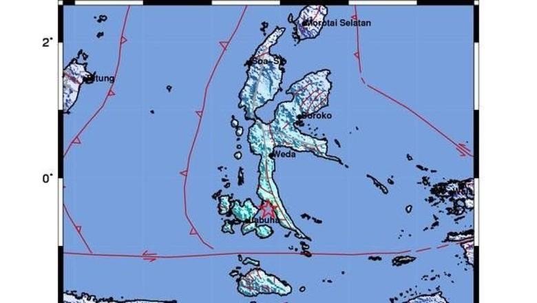 Gempa M 5,3 Guncang Maluku Utara