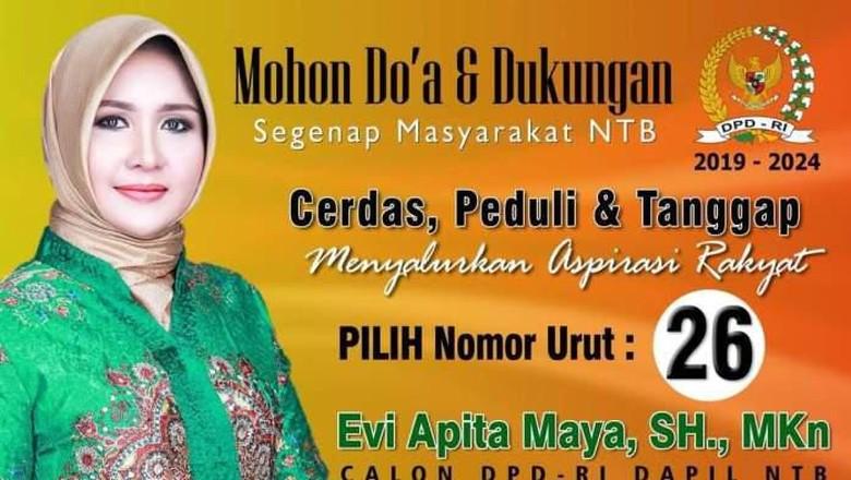 Digugat, Ini Hasil Foto Editan Kelewat Cantik yang Loloskan Evi ke Senayan