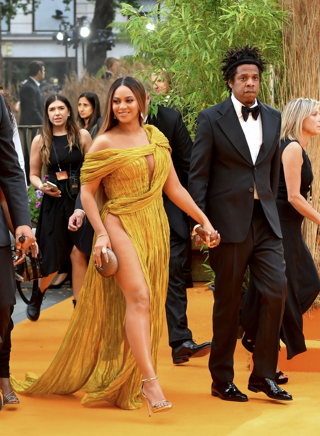 LONDON, ENGLAND - JULY 14:  Beyonce Knowles-Carter and Jay-Z attend the European Premiere of Disney's
