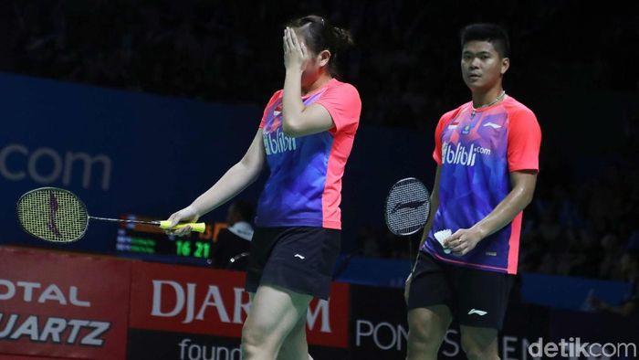 Praveen Jordan/Melati Daeva Oktavianti kandas karena persiapan mental tak matang di Indonesia Open 2019.  (Pradita Utama/detikSport)