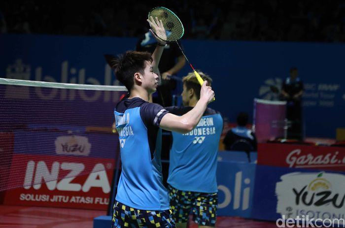 Kevin Sanjaya Sukamuljo/Marcus Fernaldi Gideon melaju ke babak kedua Indonesia Open 2019.
