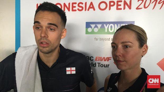 Chris/Gabrielle menikmati momen bermain di Indonesia Open.