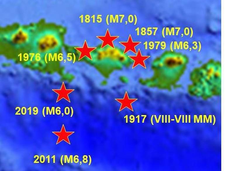 BMKG Ungkap Catatan Sejarah Gempa Bumi di Bali