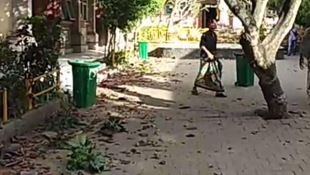 Dampak Gempa M 6 di Bali, Genting SD dan Kantor Camat Rontok