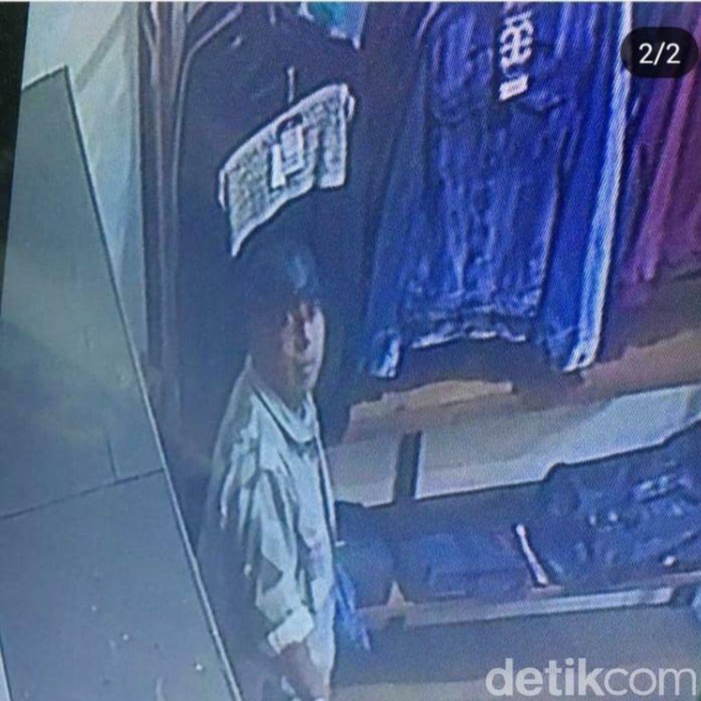 Pria Berbadan Besar Terekam CCTV Mencuri di Toko Jaket Lembang